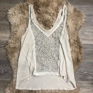 Silence + Noise Urban Outf. Beaded Sequin Tank Top